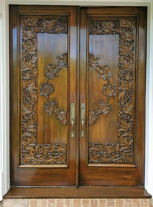 A Restored Entrance Door. (Credit: Mark Irwin)