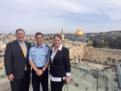 Image result for pompeo in israel