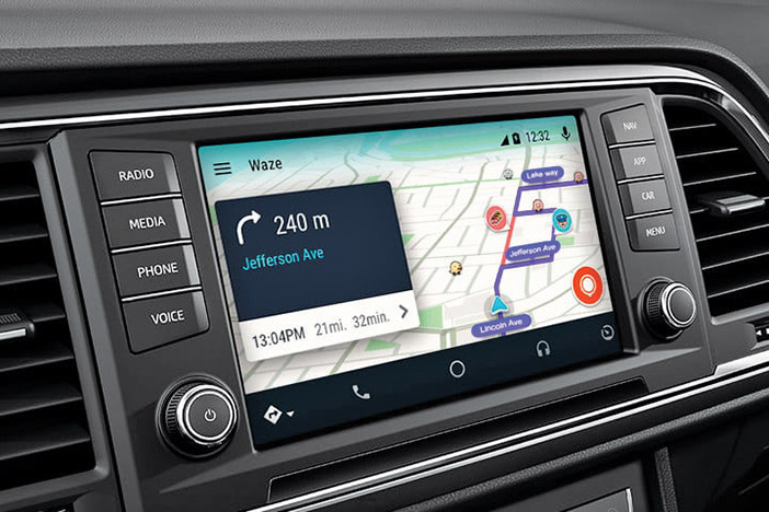 Using Waze as Your Car's Built-In Navigation System