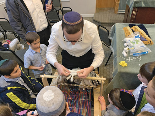 BMOB Youth Department Learns Melachos of Shabbos