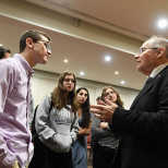 Elyakim Rubinstein  Visits The Frisch School