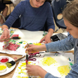 Yeshivat Noam Fifth Grade Artists Create Multi-Layered Pop Art