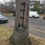 Creepy Graffiti Near Highland Park Shul Prompts Community Meeting