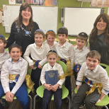 Yeshivat Noam Second Graders Receive Their Chumashim