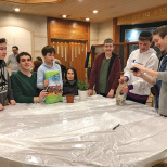 Tenafly Chabad Middle School Plants With Seniors for Tu B'Shevat