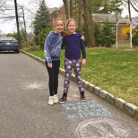 Englewood Sisters Create Pesach-Themed Sidewalk Chalk Obstacle Course